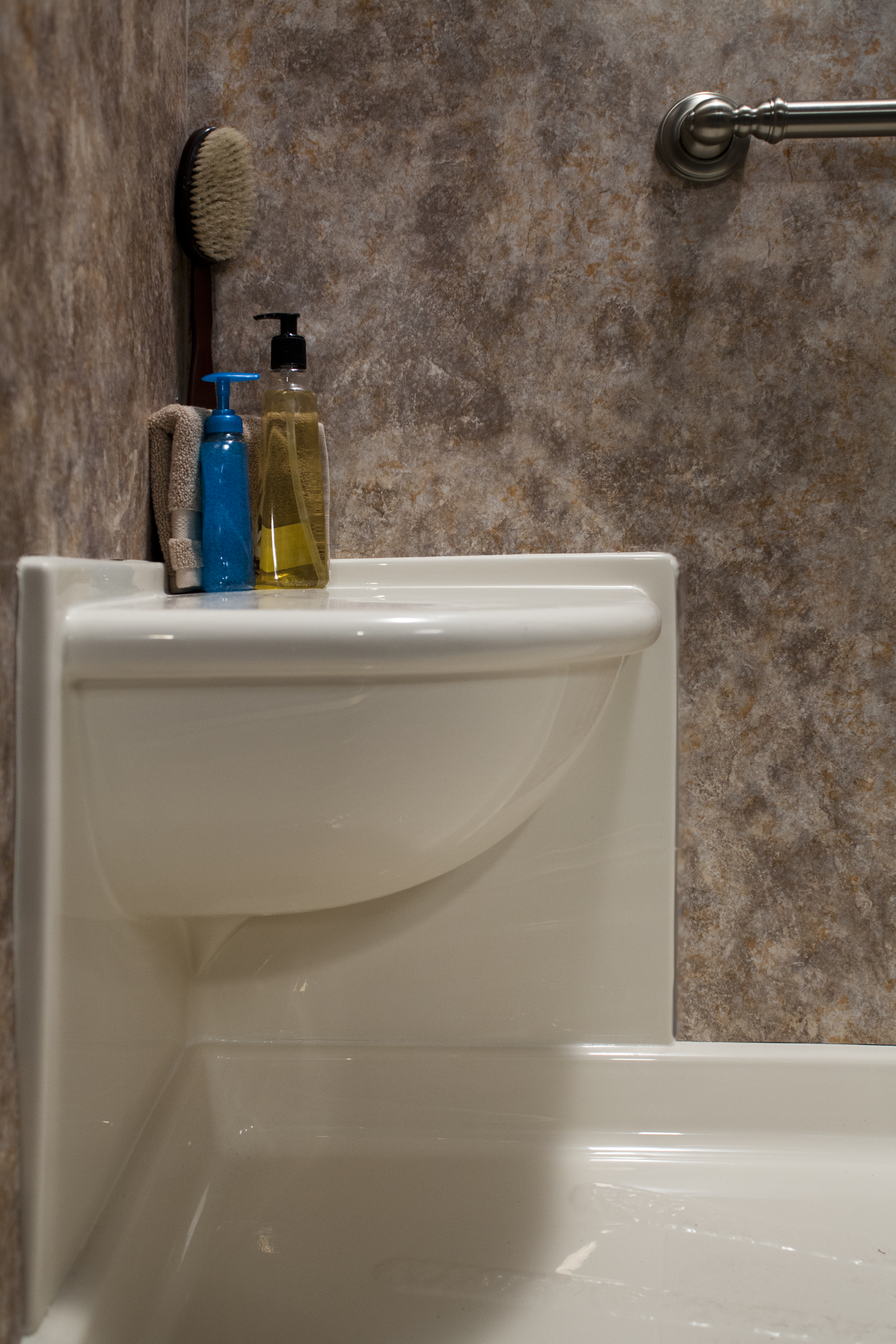 Get the Shine You Love With a Bathroom Wall Surround   Bath Makeover ...